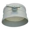 Ventilation pipe fittings round polypropylene plastic manual air damper