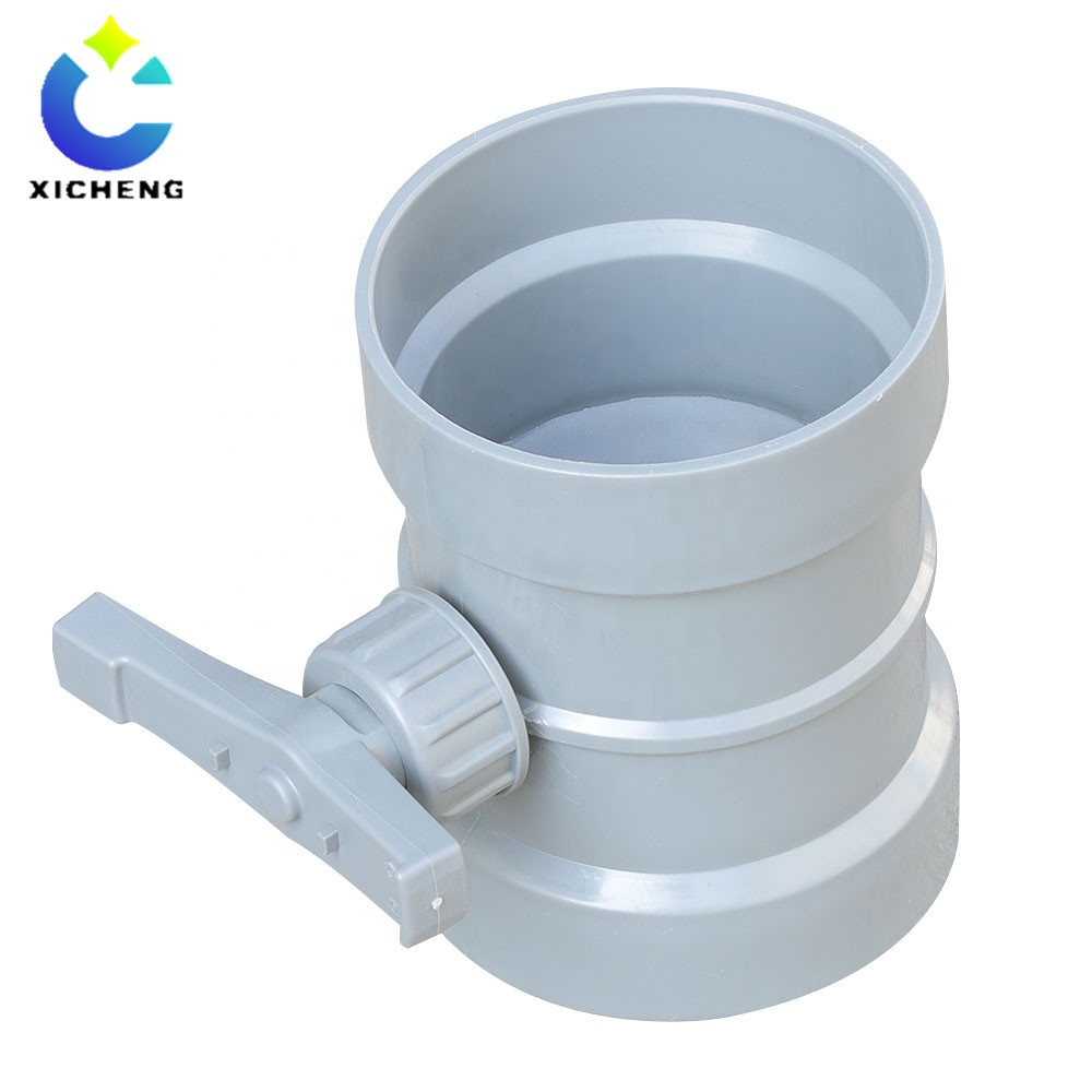 Round Manual Plastic Air Duct Volume Control Damper Manual Air Control Valve