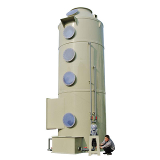 Industrial wet air scrubber exhaust customized size packing tower gas scrubber